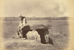 Dolmen No. 3, in a field, Konnur, Belgaum District